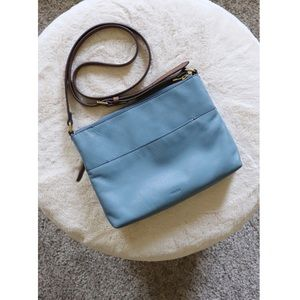 Fossil Leather Crossbody Bag in Denim